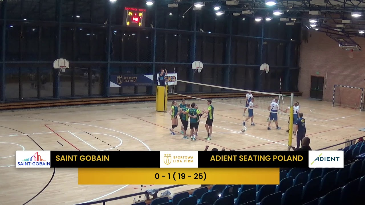 Saint Gobain vs Adient Seating Poland (SLF Siatkówka, 26.11.2019)